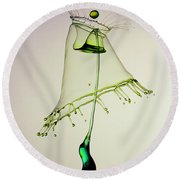 In Green Round Beach Towel