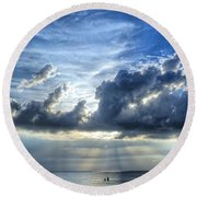 In Heaven's Light - Beach Ocean Art By Sharon Cummings Round Beach Towel