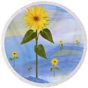 In His Image Round Beach Towel
