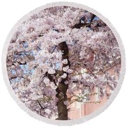 In Its Glory. Pink Spring In Amsterdam Round Beach Towel