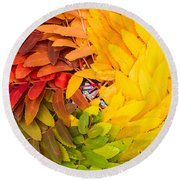 In Living Color Round Beach Towel by Aaron Aldrich