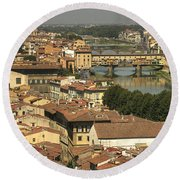 In Love With Firenze - 1 Round Beach Towel