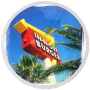 In-n-out Burger Round Beach Towel by Nina Prommer