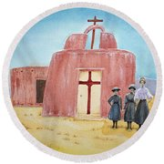 In Old New Mexico II Round Beach Towel by Michele Myers