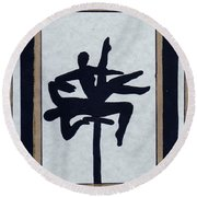 In Perfect Balance Round Beach Towel by Barbara St Jean