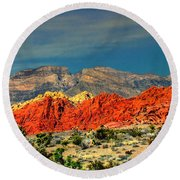 In Red Mountain 1 Round Beach Towel