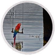 In Reflective Mood Round Beach Towel
