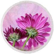 In Reverse Round Beach Towel by Judy Vincent