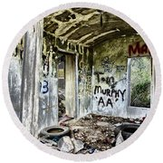 In Ruins Round Beach Towel by Erika Weber