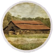 Round Beach Towel featuring the photograph In The Country by Kim Hojnacki