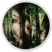 In The Forest Of Fontainebleau Round Beach Towel