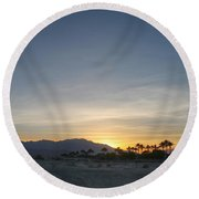 In The Grand Scheme Of Things Round Beach Towel