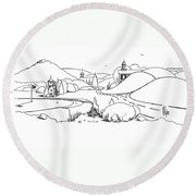 In The Land Of Brigadoon  Round Beach Towel