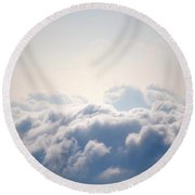In The Light ...and Beyond. Round Beach Towel