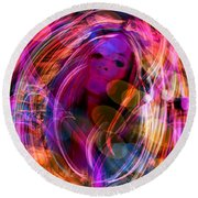 Round Beach Towel featuring the digital art In The Mood by Jason Hanson