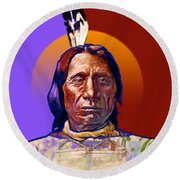In The Name Of The Great Spirit Round Beach Towel