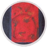 Round Beach Towel featuring the painting In The Night Sky by Mini Arora