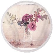 In The Pink Round Beach Towel