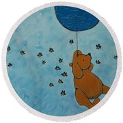 In The Pursuit Of Honey Round Beach Towel