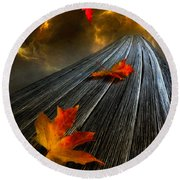In The Storm Eye  Round Beach Towel