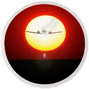 Round Beach Towel featuring the photograph In The Sun by Paul Job
