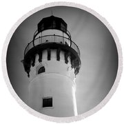 In The Village Of Wind Point Round Beach Towel by Kay Novy