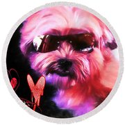 Incognito Innocence Round Beach Towel