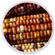Indian Corn Harvest Time Round Beach Towel