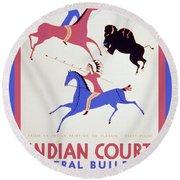 Indian Court Round Beach Towel