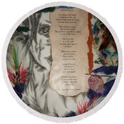 Indian Dancer Round Beach Towel