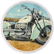 Indian Four 1941 Round Beach Towel