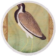 Indian Lapwing Round Beach Towel by Mansur
