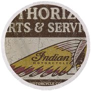 Indian Motorcycle Sign Round Beach Towel
