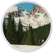 Indian Peaks Winter Round Beach Towel