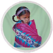 Indian Princess Round Beach Towel