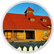 Indian River Lifesaving Station Museum Round Beach Towel