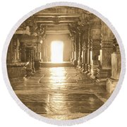 Round Beach Towel featuring the photograph Indian Temple by Mini Arora