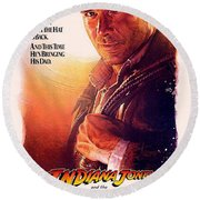 Indiana Jones And The Last Crusade  Round Beach Towel