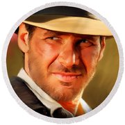 Indiana Jones Round Beach Towel