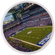 Indianapolis And The Colts Round Beach Towel