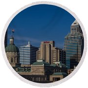 Indianapolis Skyscrapers Round Beach Towel