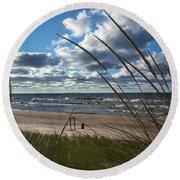 Indiana Dunes' Lake Michigan Round Beach Towel