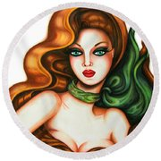 Indifference 2 Round Beach Towel