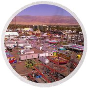 Indio Fair Grounds Round Beach Towel by Chris Tarpening