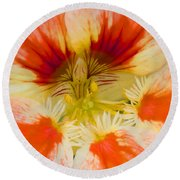 Round Beach Towel featuring the photograph Ink Blot by Heidi Smith