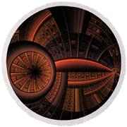 Round Beach Towel featuring the digital art Inner Core by GJ Blackman