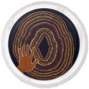 Inner Worlds Round Beach Towel