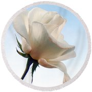 Round Beach Towel featuring the photograph Innocence by Deb Halloran