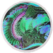 Insect Eye Round Beach Towel