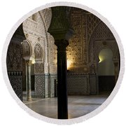 Inside The Alcazar Of Seville Round Beach Towel